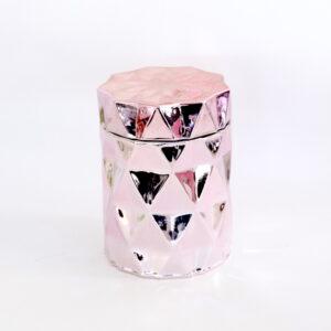 metallic pink geo