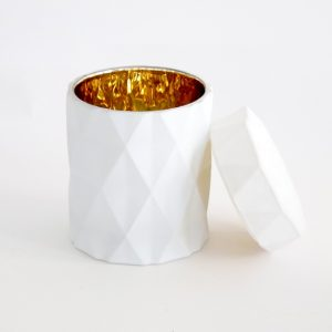 white geo with gold